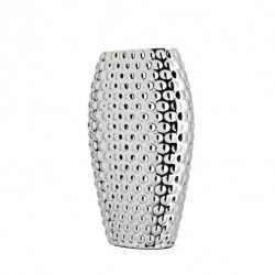 Madre Perla Vase by Pedro Duran in Silver plated