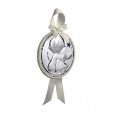 Dulces Sueños Cradle Medallion by Pedro Duran in Silver plated