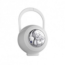 Dulces Sueños Pacifier holder by Pedro Duran in Silver plated