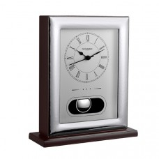 Mozart Clock by Pedro Duran in Silver plated