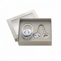 Querubin Baby set by Pedro Duran in Silver plated