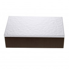 Lago Victoria Decoration Box by Pedro Duran in Silver plated